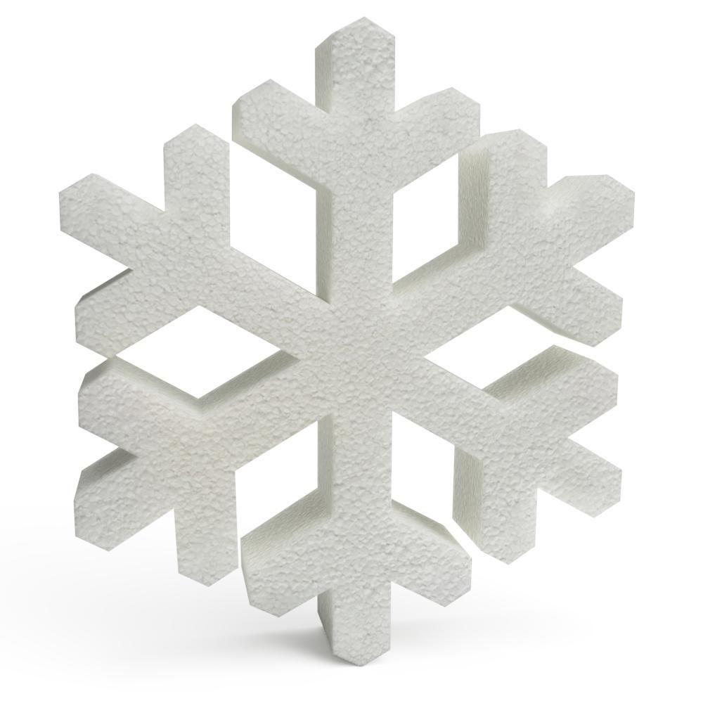 Polystyrene Christmas Snowflakes 250mm x10