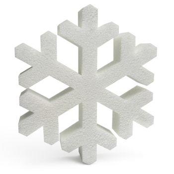 Polystyrene Snowflakes (A) 250mm x10