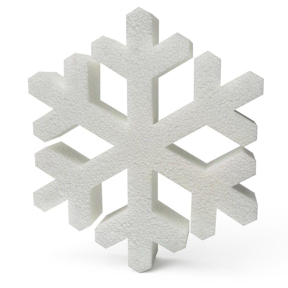 Polystyrene Snowflakes 300mm
