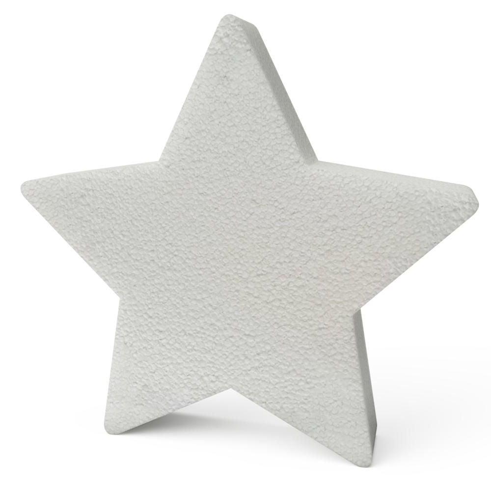 Polystyrene Christmas Stars 200mm x10