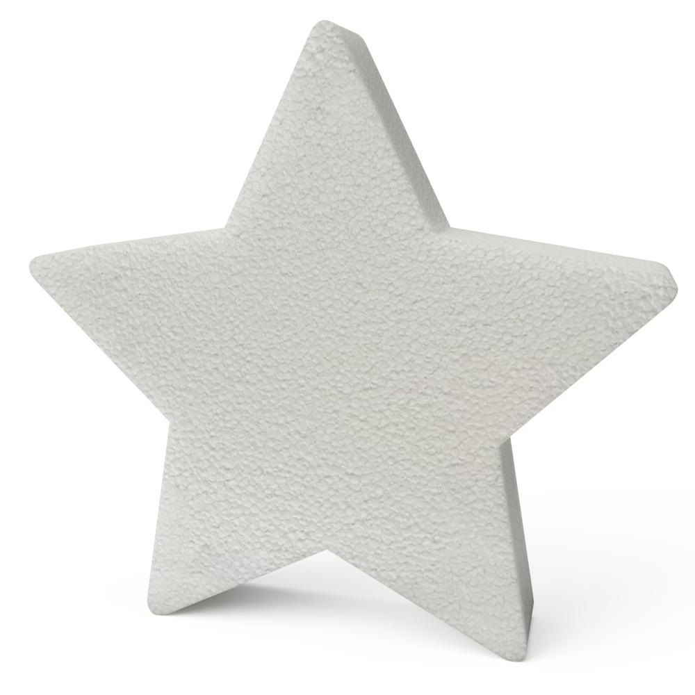 Polystyrene Christmas Stars 300mm x10
