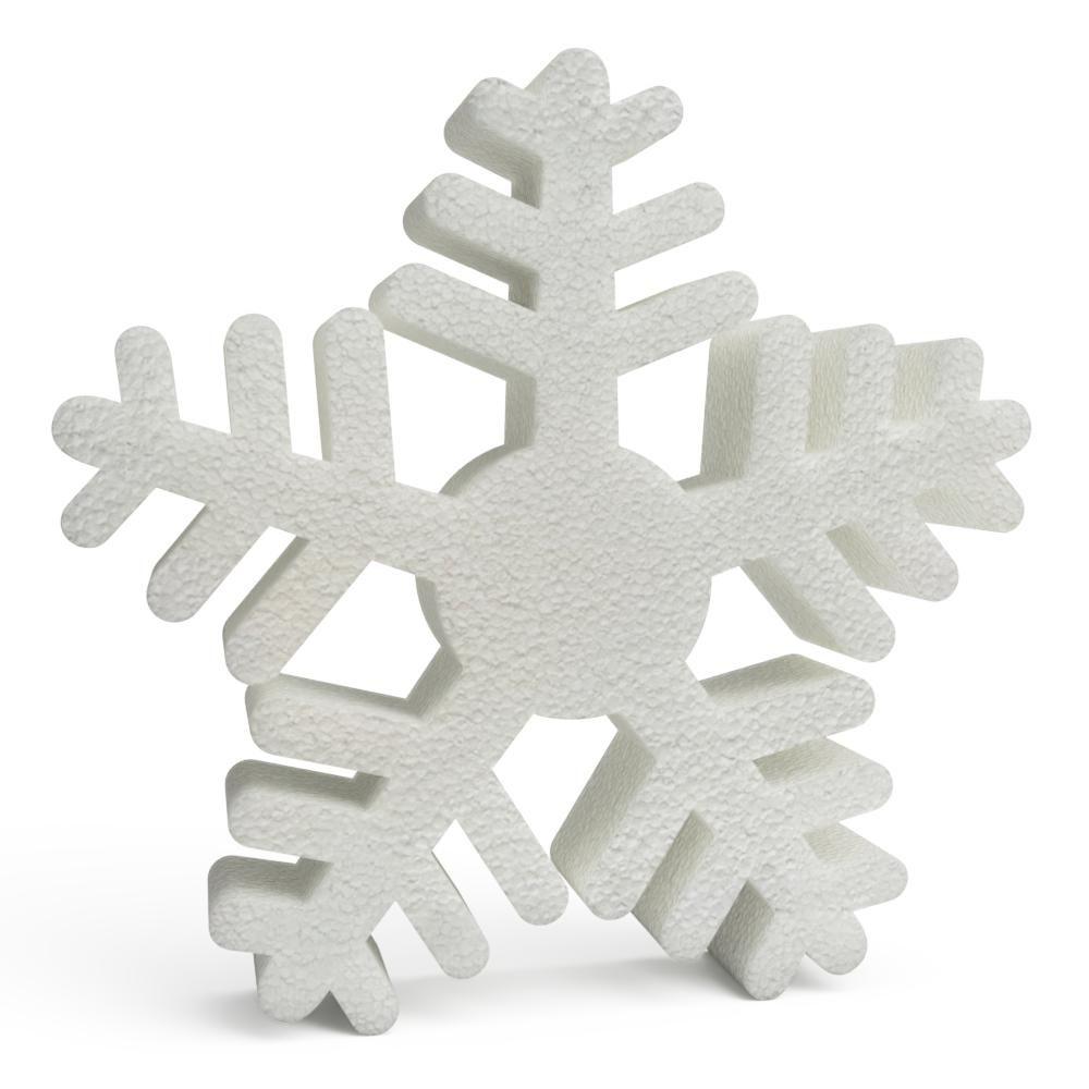 Polystyrene Christmas Snowflakes 150mm x10
