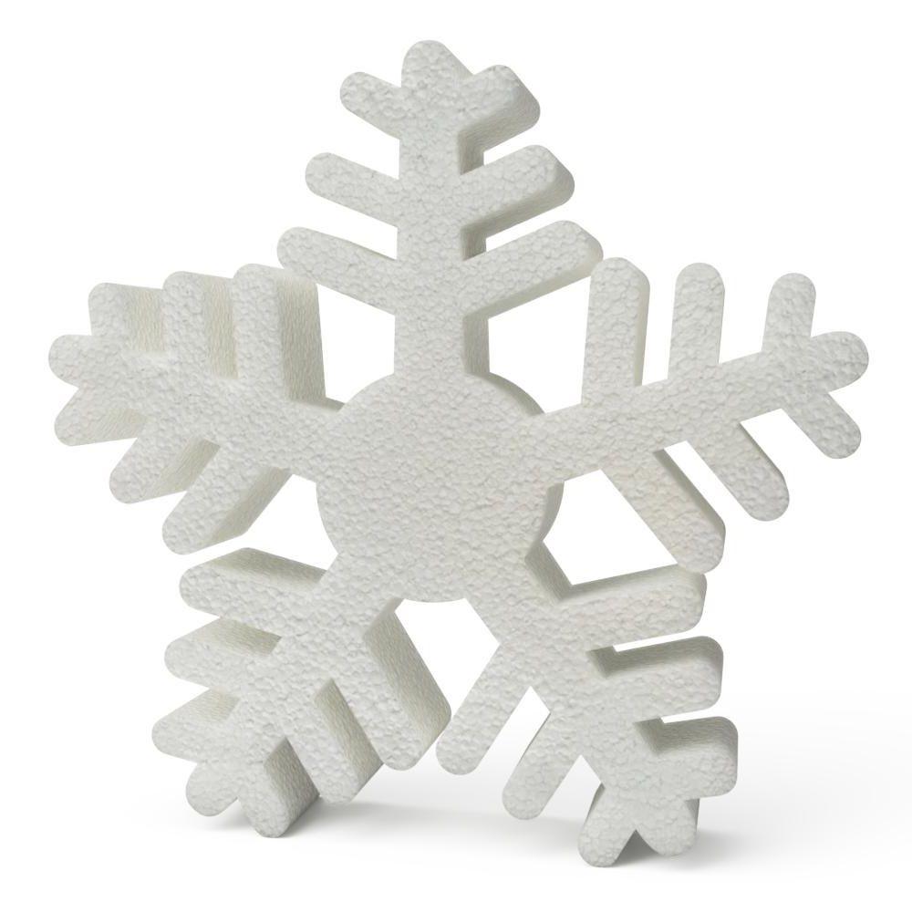 Polystyrene Christmas Snowflakes (B) 200mm x10