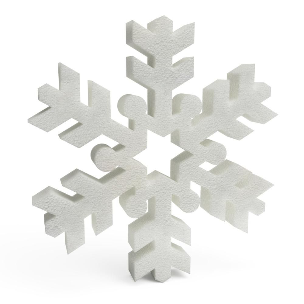Polystyrene Christmas Snowflakes (C) 150mm x10