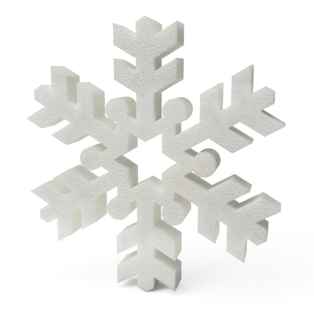 Polystyrene Christmas Snowflakes (C) 200mm x10
