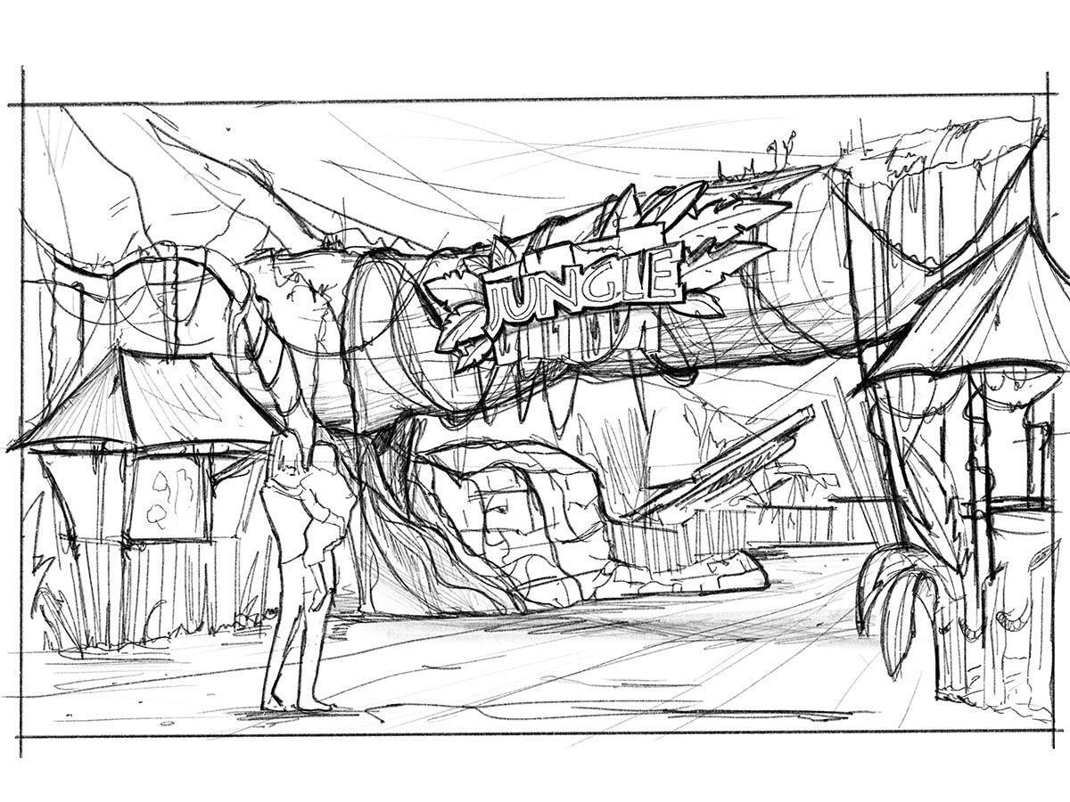 Jungle Design Sketch