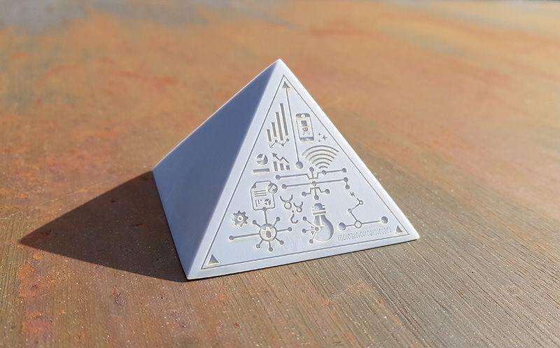 Laser Engraved 3d Printed Pyramid