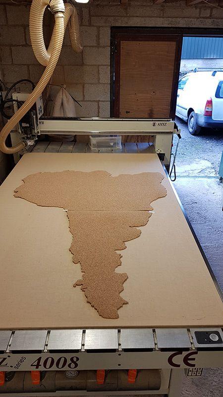 South America Cork Board
