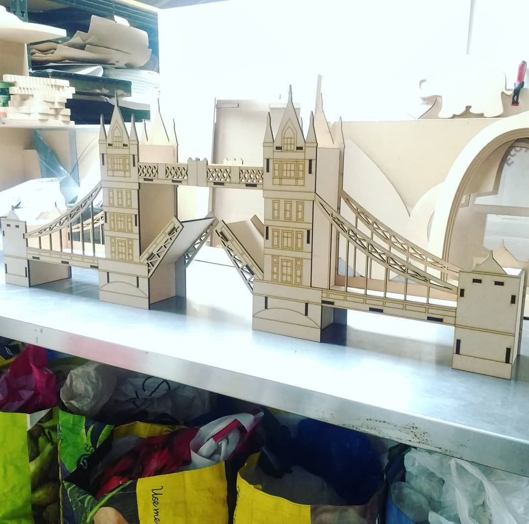 London Bridge MDF Model