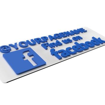 Find Us On Facebook Shop Sign