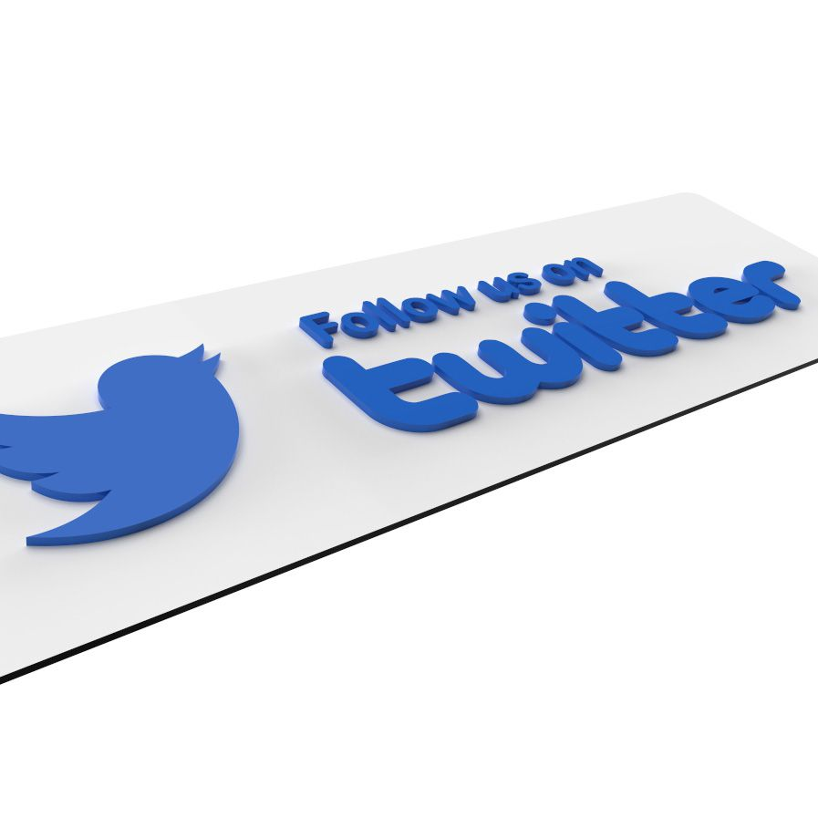 Follow Us On Twitter Shop Sign