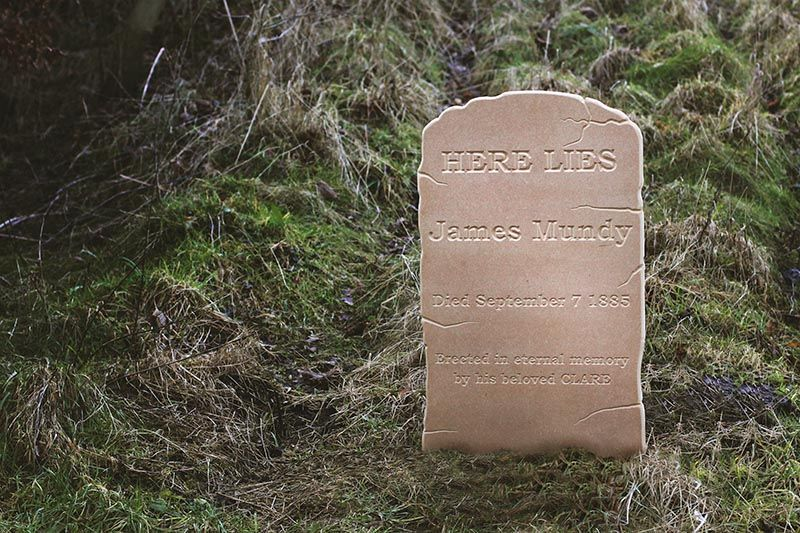 MDF Gravestone Prop