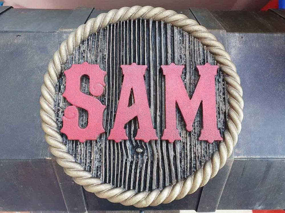 Sam Themed Textured Sign 01