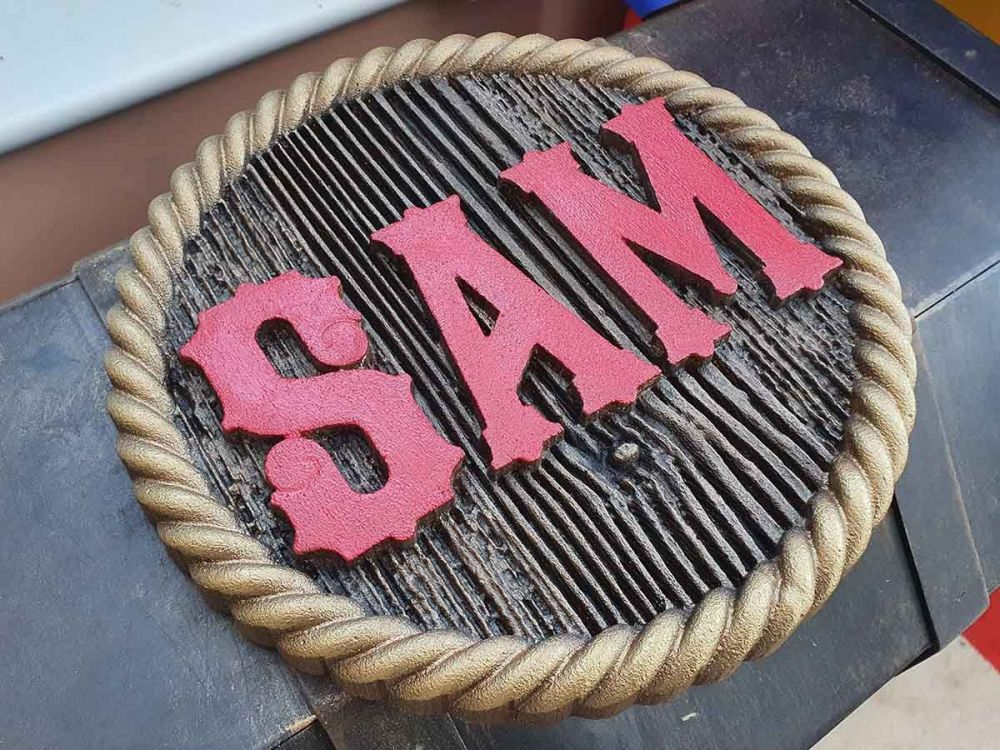 Sam Themed Textured Sign 02