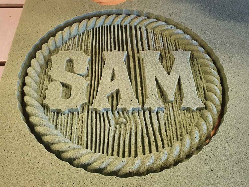 Sam Themed Textured Sign 04