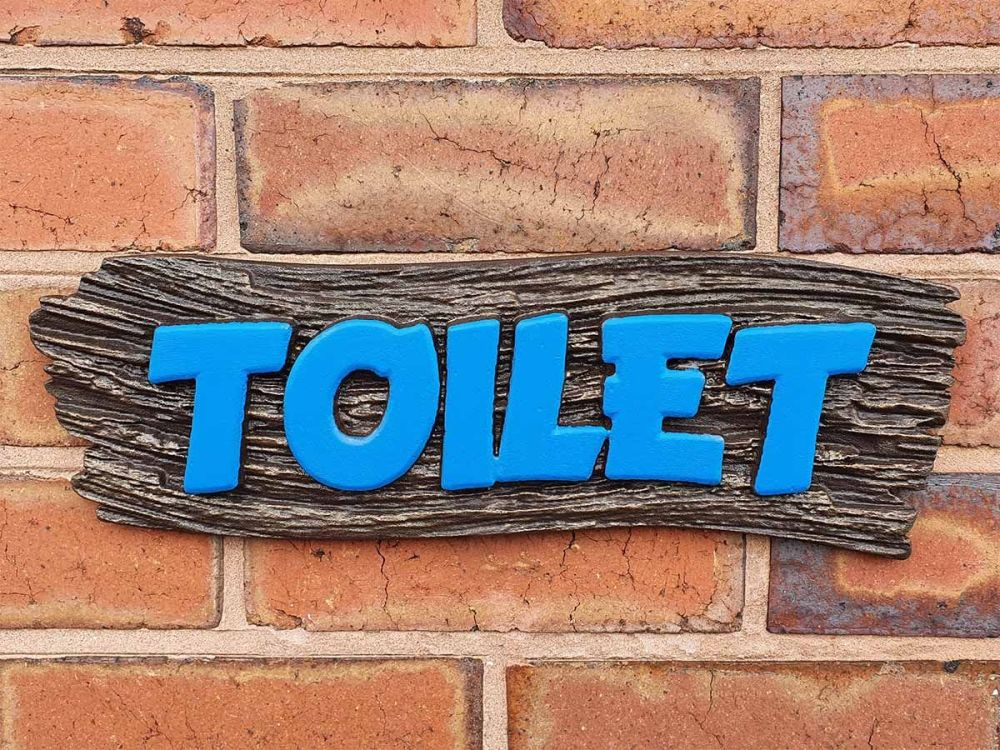 3D Texture Toilet Sign 01