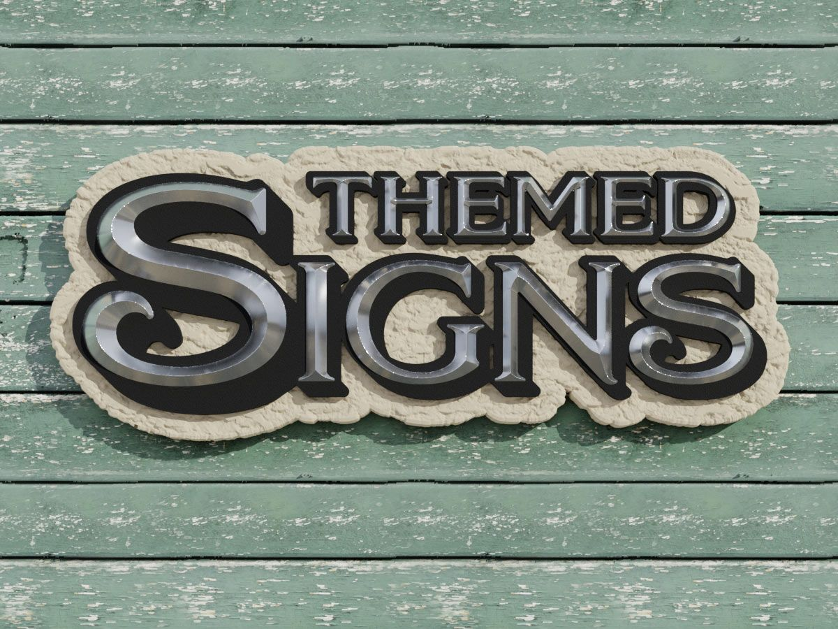 3D Themed Textured Signage