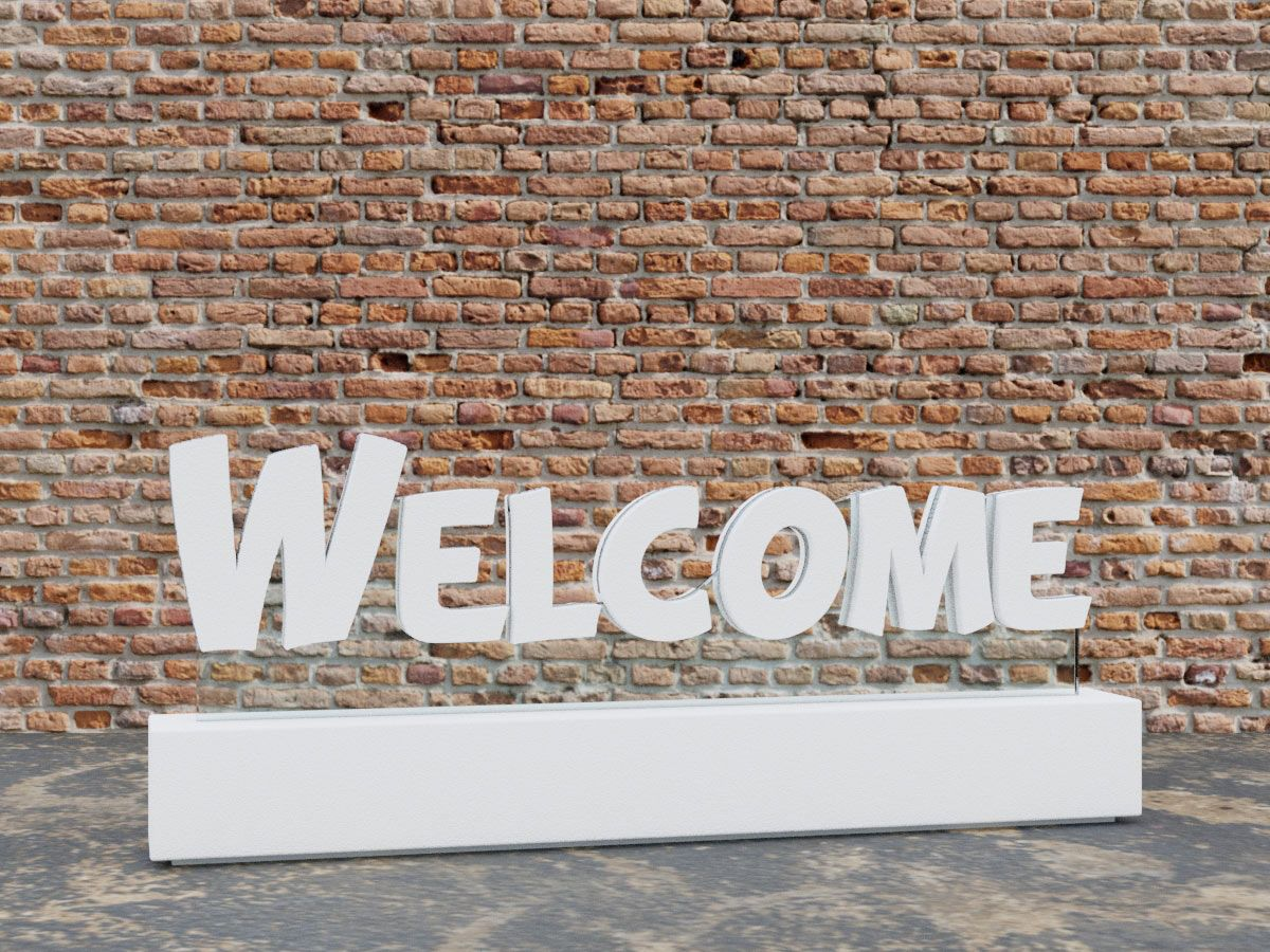 Welcome 3D Floating Letters Sign