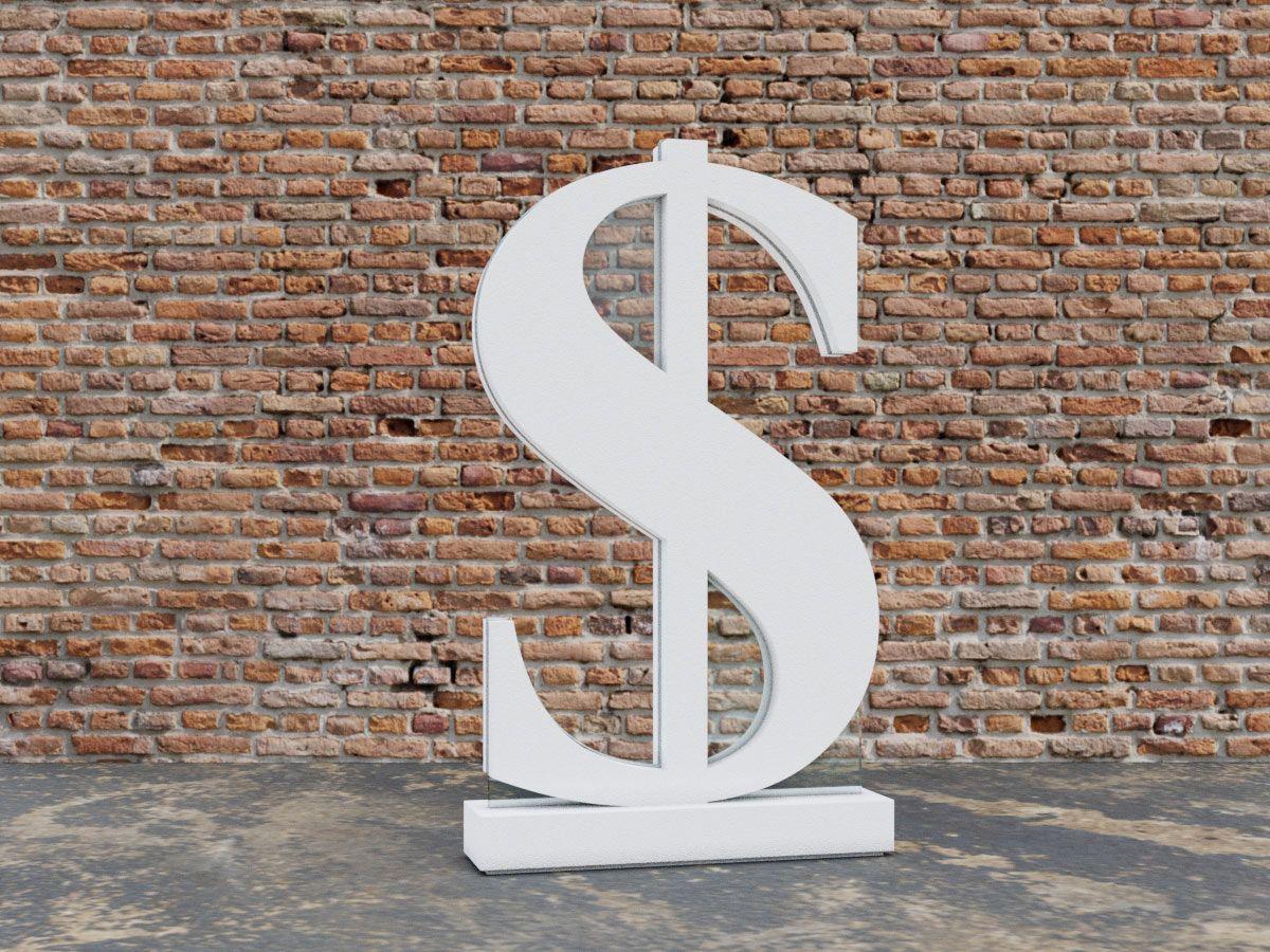 3D Dollar Freestanding Display Sign