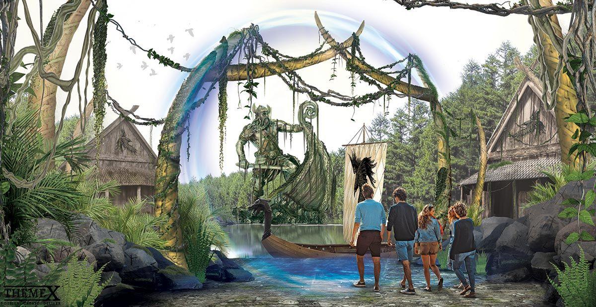 Viking Boat Ride Theme Park Concept Design