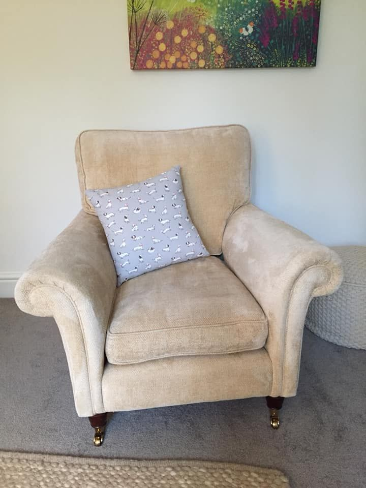 after cleaning of Laura Ashley armchair