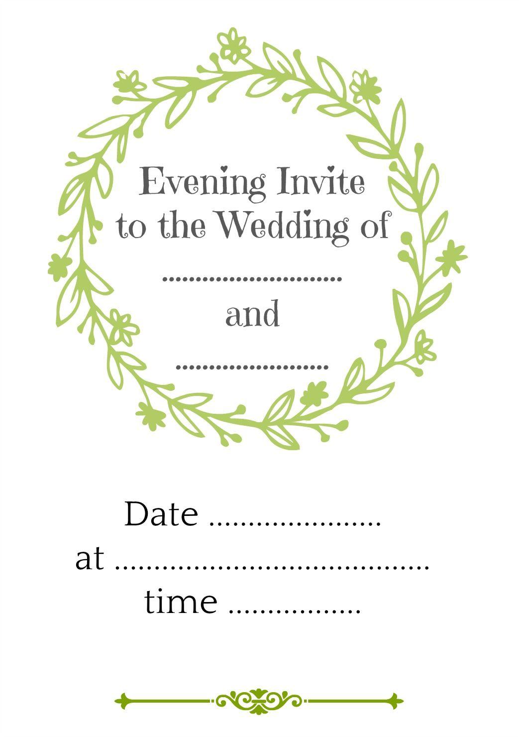 Evening Invitation