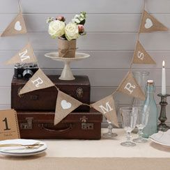 Hessian Mr & Mrs Wedding Bunting - 1.5 m