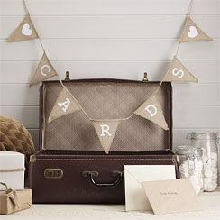 Hessian ''Cards'' Bunting - 1.5m