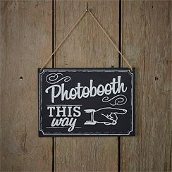 Chalkboard Wedding Photo Booth Sign