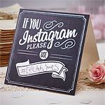 'If You Instagram' Wedding Table Signs