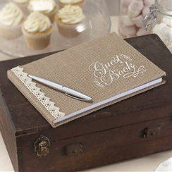 Hessian Wedding Guest Book