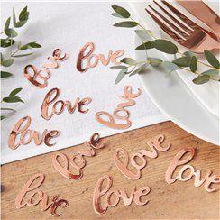 Rose Gold 'Love' Confetti - 14g Bag