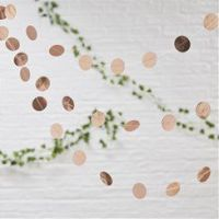 Rose Gold Circle Garland