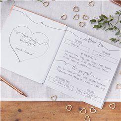 Rose Gold Foiled Wedding Planner - 21cm