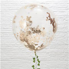 Giant Rose Gold or White Confetti Balloons - 36""