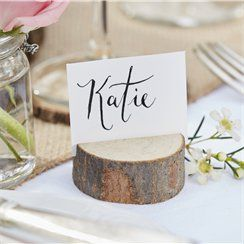 Mini Wooden Log Place Card Holder - 5cm