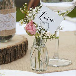 Glass Place Card Holders - 11cm