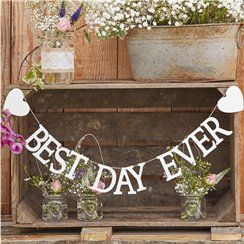 'Best Day Ever' Wooden Bunting - 1.5m