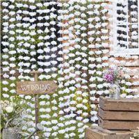 White Floral Backdrop - 1.8m x 2m