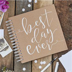 Best Day Ever Envelope Guestbook - 21cm