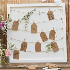 Peg & String Framed Guestbook