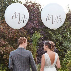 """Mr & Mrs Giant Balloons - 36"""" Latex"""
