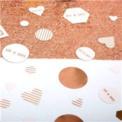 Geo Blush Wedding Table/Scatter Confetti