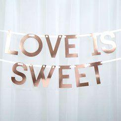 Geo Blush Rose Gold Candy Buffet Wedding Bunting - 2m