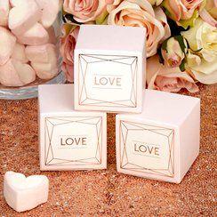 Geo Blush Wedding Favour Boxes