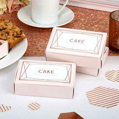 Geo Blush Wedding Cake Boxes