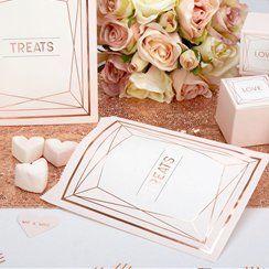 Geo Blush Wedding Sweet Bags