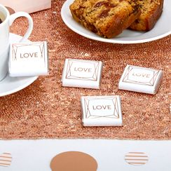 Geo Blush Love Chocolate Squares