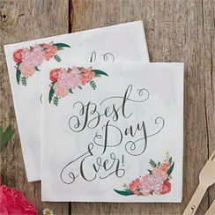 Boho Wedding 'Best Day Ever' Napkins