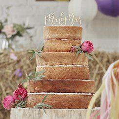 Boho Wedding Supplies Boho 'Mr & Mrs' Wedding Cake Topper